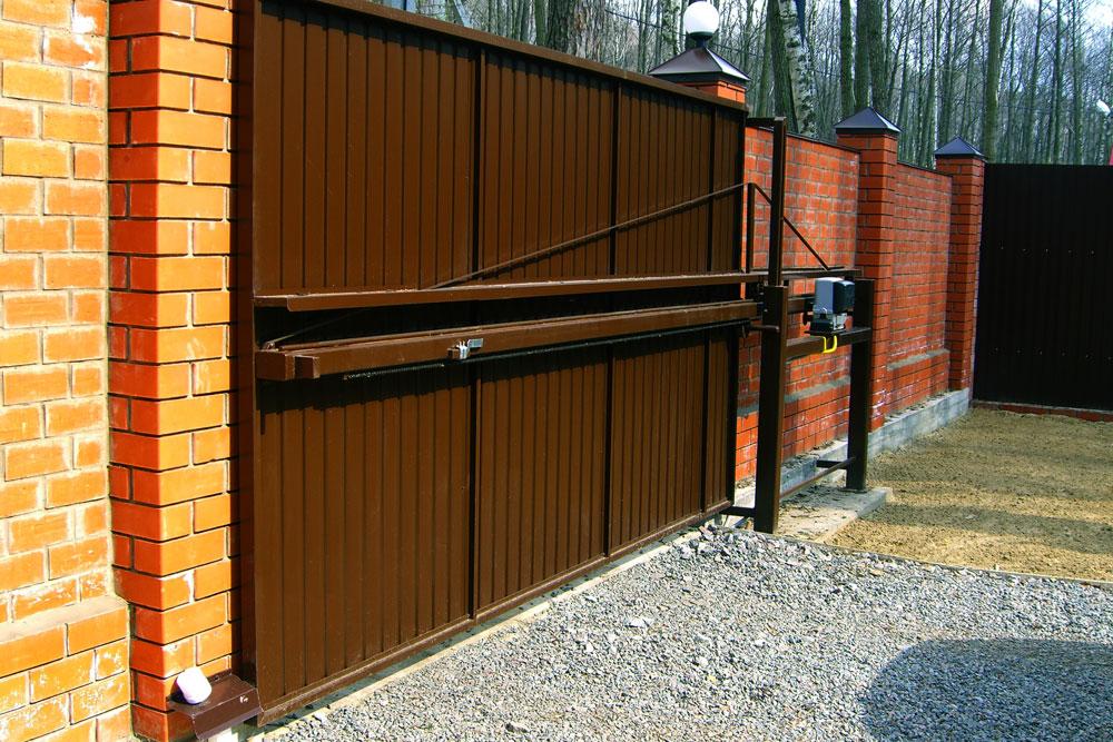 Стандартный размер 3,2х2м, Откатные ворота Механол